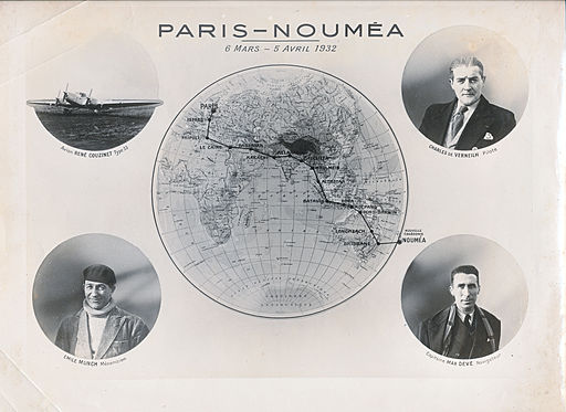 Photomontage Raid Paris-Noumea