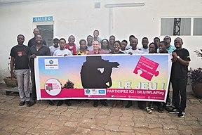 Photos de famille - Wikimédiens du Bénin lors de l'atelier d'écriture à l'institut français du Bénin (Cotonou) - Wiki loves Africa 2019.jpg