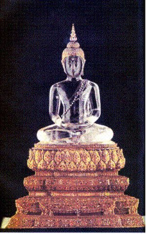 Kingdom of Champasak - The Phra Phuttha Butsayarat or Phra Luk Buddha, palladium of the Kingdom of Champasak, Laos. The Phra Butsayarat was brought to the Kingdom of Lan Xang by King Setthathirath from the Kingdom of Lan Na in the 16th century, with several other significant statutes. In the 19th century the image was taken by the Kingdom of Siam to Bangkok. It currently resides in the Phra Buddha Rattanasathan (พระพุทธรัตนสถาน) ordination hall at the Grand Palace in Bangkok.