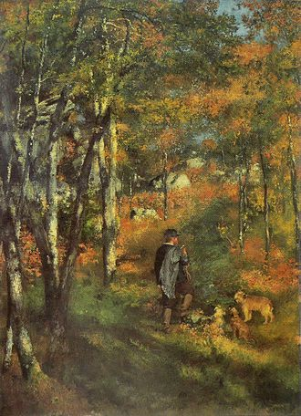 Forest of Fontainebleau - A young man in the forest of Fontainebleau, Pierre-Auguste Renoir 1886