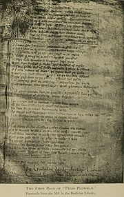 First edition manuscript of the front page.