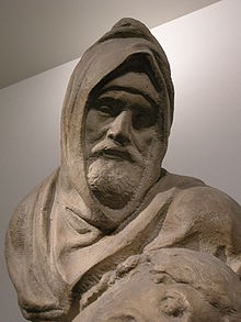 Autoritratto (?) come Nicodemo, Pietà Bandini