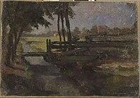 Piet Mondriaan - Polderlandschp met sloot en brug, schets - 0334216 - Kunstmuseum Den Haag.jpg