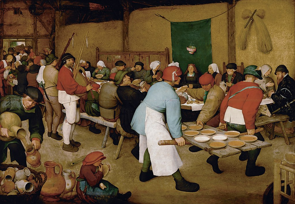 """The Peasant Wedding"" by Pieter Bruegel the Elder"