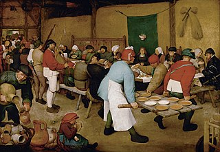 <i>The Peasant Wedding</i> painting by Pieter Brueghel the Elder
