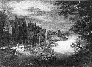 Dorfpartie am Ufer