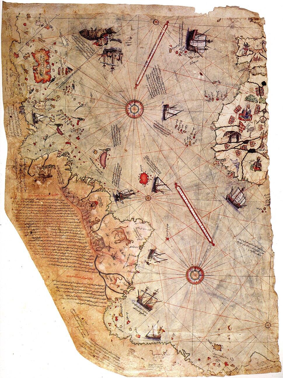 Piri reis world map 01