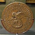 Pisanello, medaglia di vittorino da feltre, 1447 ca., verso.JPG