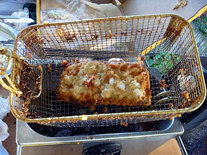 Deep-fried pizza - Pizza in a deep fat fryer