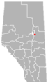 Plamondon, Alberta Location.png