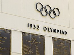 Plaque Commemorating 1932 Olympics - Los Angeles Coliseum - Los Angeles, CA - USA (6933963721).jpg