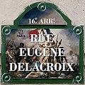 Plaque Rue Eugène Delacroix - Paris XVI (FR75) - 2021-08-18 - 3.jpg