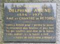 Plaque en hommage à Delphine Arène au plateau de Retord.png