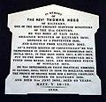 Plaque to Rev. Thomas Hog, Evanton Parish Church (geograph 1863725).jpg