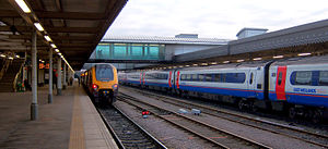 Sheffield station - CrossCountry and East Midlands Trains.