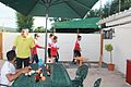Playing Darts at Golden Duck Bar at Cricket Club in Portugal - Miranda do Corvo.jpg