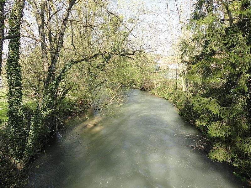 La Somme-Soude, passant dans le village de Pocancy (France).