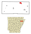 Poinsett County Arkansas Incorporated and Unincorporated areas Trumann Highlighted.svg