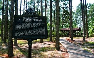 Poison Springs Battleground State Park state park in Ouachita County, Arkansas; site of a Confederate victory in the Civil War (April 18, 1864)