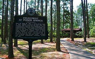 Ouachita County, Arkansas - Entrance to the Poison Springs Battleground State Park, a U.S. National Historic Landmark