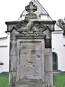Monuments to Polish victims of battle of Ossów