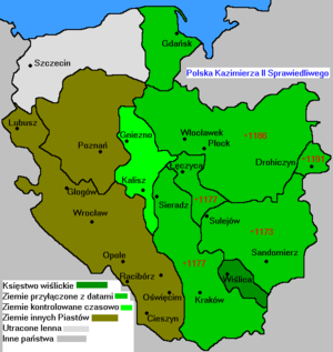 Casimir II the Just - Image: Polska 1177 1194