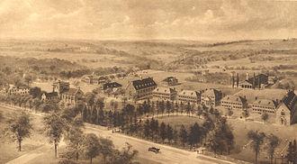 Pomfret School - Ernest Flagg rendering of Pomfret School 1916- click to enlarge
