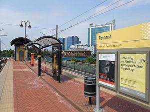 Pomona tram stop - Pomona tram stop in 2013