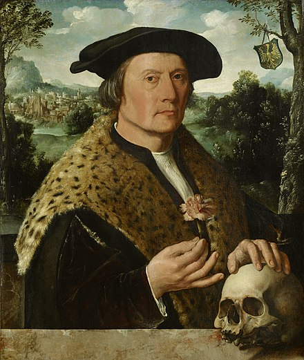 Pompeius Occo (1483-1537) came from a north German family and grew up in Augsburg. In 1511 he settled in Amsterdam as a representative of the Fugger banking house and business firm of Augsburg. Pompeius Occo Rijksmuseum SK-A-3924.jpeg