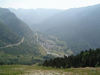 Porté-Puymorens - A view of Porté-Puymorens at the foot of Puig Carlit