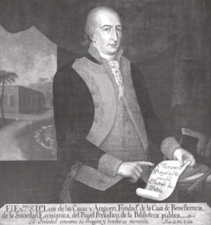 Luis de Las Casas - Portrait of Luis de Las Casas by Juan del Rio, circa 1790s