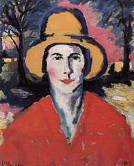 Portrait of a Woman with a Yellow Hat