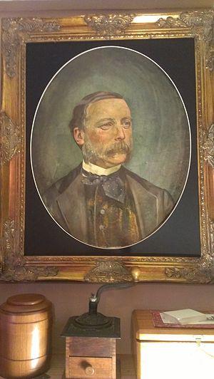 Frederik Lange - Portrait of man 1919, oil  by Federik Lange.