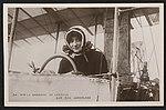 Portrait of pilot Madame De Laroche in the cockpit of a biplane. ca. 1910 (id.31869753).jpg