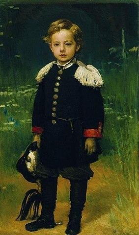 Иван Крамской. Портрет сына Сергея. 1883 год.