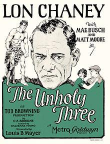Afiŝo - Malsankta Trio, La (1925) 02.jpg