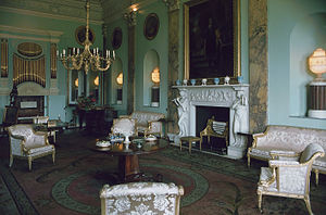 The Remains of the Day (film) - Music Room of Powderham Castle in 1983