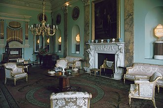 Anthony Hopkins - Music Room of Powderham Castle, a location for The Remains of the Day. Starring as the butler Stevens, Hopkins named it among his favourite films.