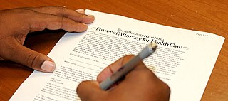 Power of attorney Legal form of delegation