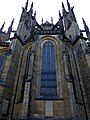 Prag - Veits-Kathedrale auf dem Hradschin - Teil der Nordfassade - Katedrála svatého Víta, Václava Vojtěcha - Část severního průčelí - panoramio.jpg