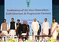 Pranab Mukherjee addressing the Conference of Vice Chancellors of Agricultural Universities & Directors of IACR Institutes & Progressive Farmers, at Vidyanagari.jpg