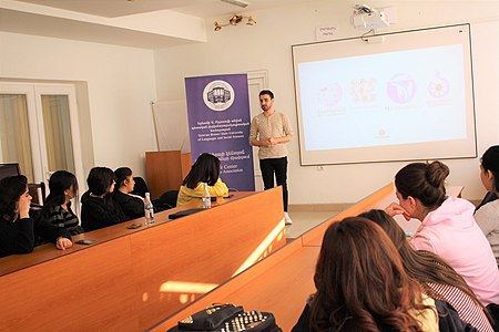 Presentation about WMAM projects at Yerevan Brusov State University of Languages and Social Sciences 03.jpg