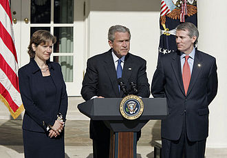 Portman nominated for OMB Director and Schwab nominated for USTR, 2006 President Bush Nominates Rob Portman as OMB Director and Susan Schwab for USTR.jpg