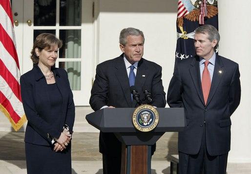President Bush Nominates Rob Portman as OMB Director and Susan Schwab for USTR