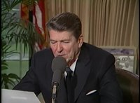File:President Reagan's First Radio Address on the Economic Recovery in the Oval Office, April 3, 1982.webm