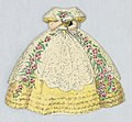 Print, Paper Doll Costume in Yellow with White Lace and Pink Rose Garlands, 1876–80 (CH 18344249).jpg