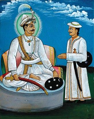 Prithvi Narayan Shah - Prithvi Narayan Shah consulting with his Senapati Shivaram Singh Basnyat