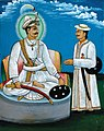 Prithvi Narayan Shah with Senapati Shivaram Singh Basnyat.jpg