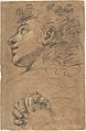 Profile Head of a Youth Looking to Upper Left, and Study of Clasped Hands MET DP809051.jpg