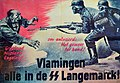 Propaganda wervings Poster SS-Freiwilligen-Grenadier-Division Langemarck met opschrift Vlamingen alle in de SS langemarck.jpg